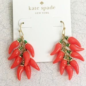 Striking NWOT Kate Spade chili 🌶 earrings!